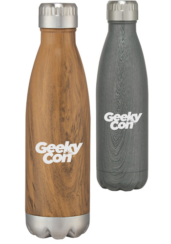 16 oz. Woodtone Stainless Steel Bottles | X20099