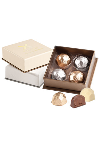 Customized Select Series-Deco 4pcs. Belgian Chocolate Gift Box