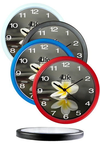 Promotional 10 in. Plastic Economy Wall Clocks