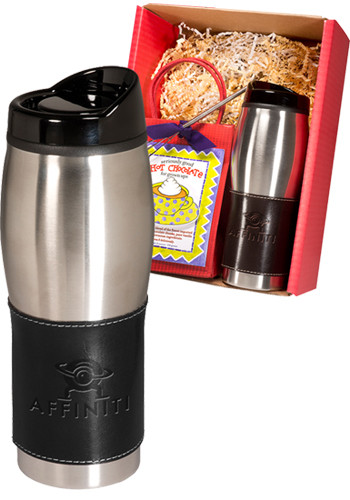 16 oz. Empire™ Leather-Stainless Tumblers & Hot Cocoa Set |PLLG9233