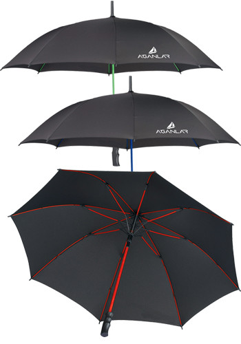 46 in. Color Accent Auto Open Umbrellas | LE205050