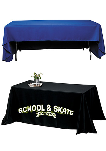 Customized 8 ft. 3-Sided Economy Tablecloths