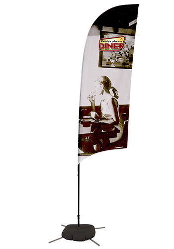 Sail Sign Flag Kits with Scissor Base