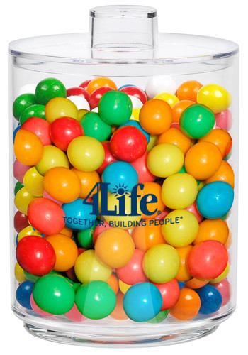 Acrylic Cylinder Gift Jars with Gumballs | CICYLNGB