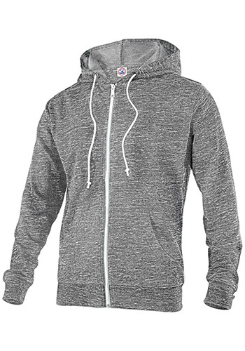 Adult Unisex Snow Heather French Terry Zip Sweatshirts | 94300