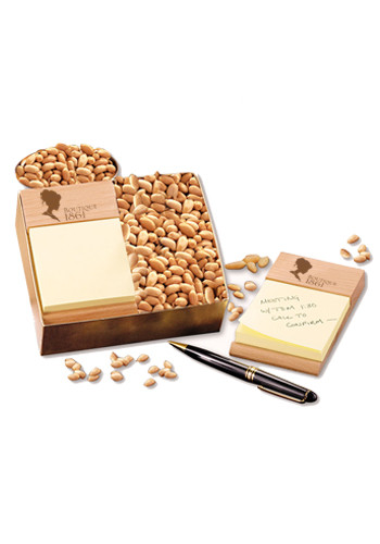 Customized Beech Post-it Note Holders with Choice Virginia Peanuts
