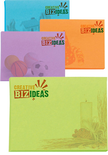 BIC Adhesive Colored Sticky Notepads 50 Sheets | BGCP4A3A50