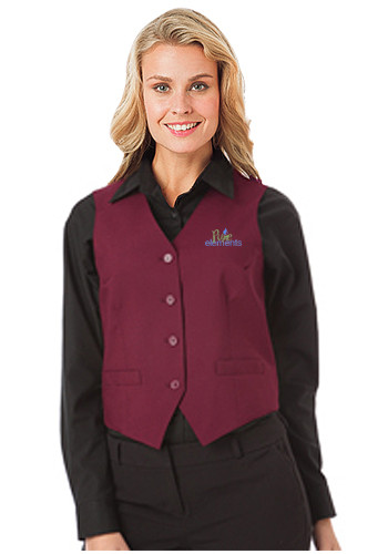 Blue Generation Ladies Teflon Treated Twill Vests | BGEN1265