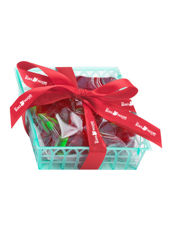 Customized Candy Fruit Baskets with Gummy Cherry Fillings