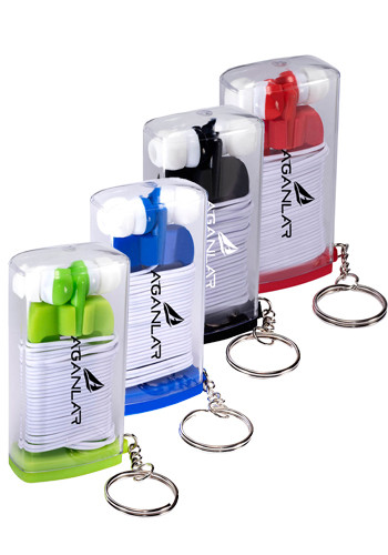 Earbuds in Case with Key Ring | PL1107