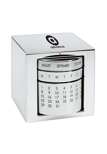 Perpetual Calendar Cube : Custom executive silver cube perpetual calendars