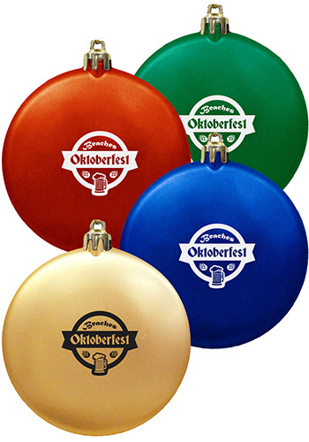 Personalized Brass Christmas Ornaments