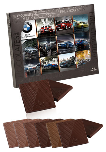 Gallery Gift Box with 12pcs. Belgian Chocolate Squares  | X10311