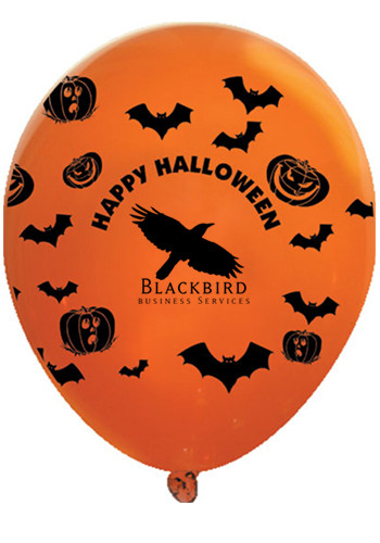 Bulk Happy Halloween Wrap Latex Balloons