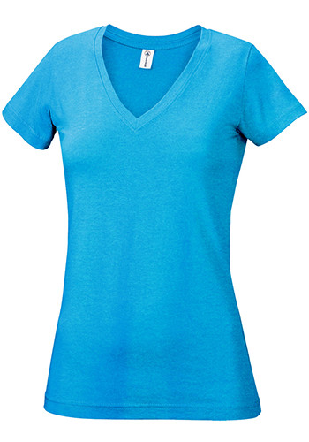 Delta Apparel Junior V-Neck Tees | 1336V