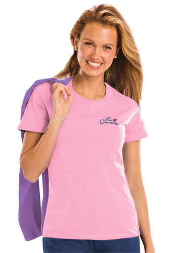 #BGEN4702 Promotional Ladies Short Sleeve Jewelneck Tee