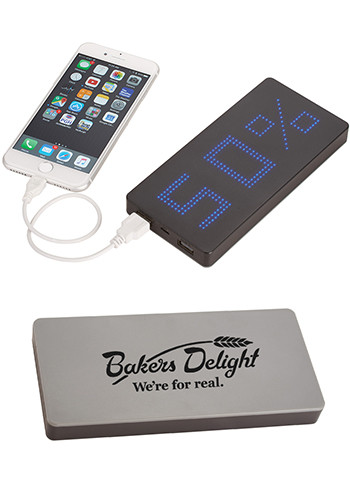 LED Display 8000 mAh Power Banks with Clock | LE712106