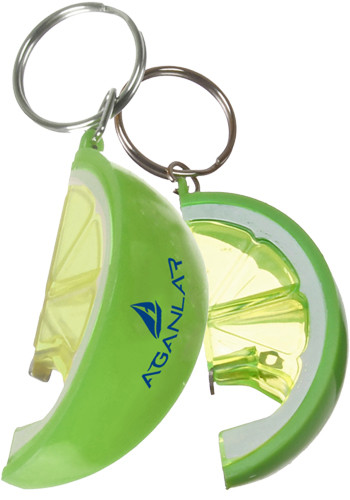 Lime Bottle Opener Key Rings