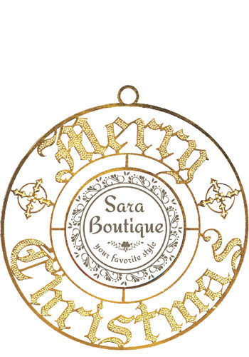 Merry Christmas Bright Brass Holiday Ornaments | SISLXM16