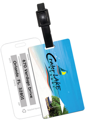 Recycled Beach Scene Luggage Tags | IVWSBTT10