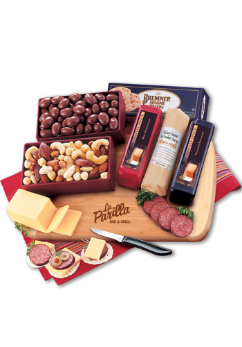 Customized Shelf-Stable Starter with Bamboo Cutting Board Cheese Packages
