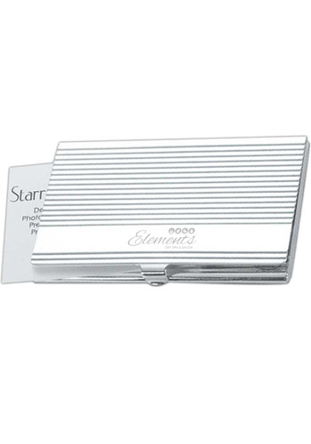 Wholesale Silver Ribbed Business Card Cases
