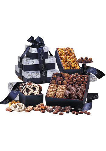 Tower of Sweets in Sflake Navy Blue Gift Box | MRNSF3565