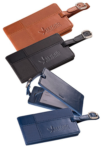 Tuscany™ Duo-Textured Leather Luggage Tags |PLLG9325