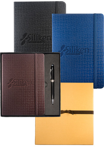 Tuscany Textured Journals & Executive Stylus Pen Set | PLLG9264