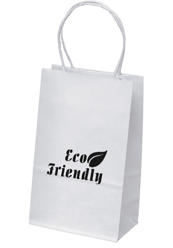 Custom Paper Bags White Brown Ping