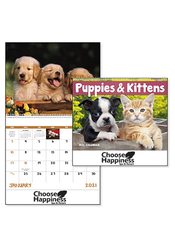 Puppies and Kittens - Spiral Calendars | X30183