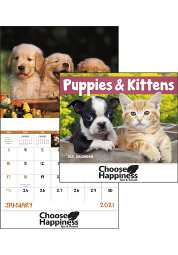 Puppies and Kittens - Stapled Calendars | X30195