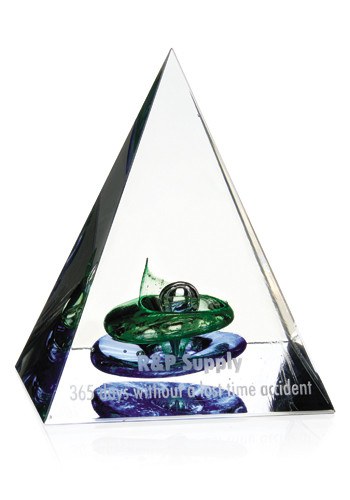 Jaffa Pyramid of Success Art Glass Awards | X10463
