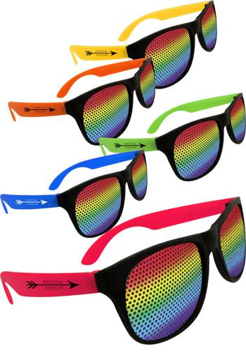 Rainbow Neon Billboard Sunglasses | WCBIL533