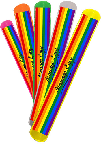 Rainbow Pride Slap Bracelets Wcjlr36