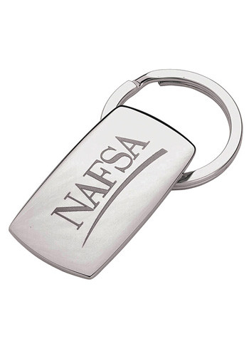 Silver Metal Laser Rectangle Key Chains | INK4000