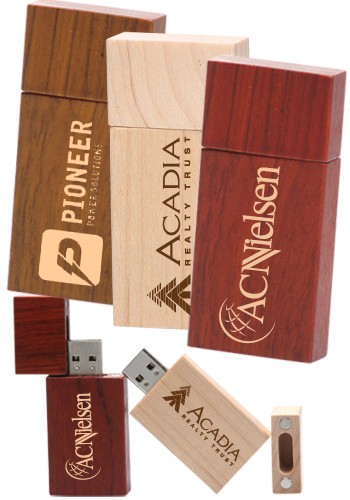 Personalized 8GB Rectangle Wood USB Flash Drives