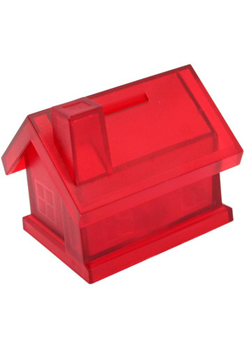 Custom Plastic House Shaped Coin Banks