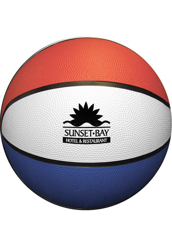 Customized Red White Blue Rubber Basketballs