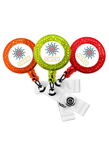 Reflective Badge Reels with Belt Clip | SIEXPRESSSBR5