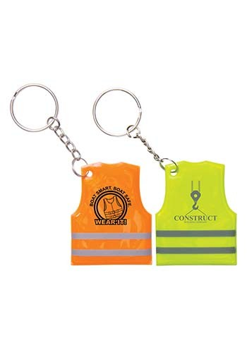 Reflective Safety Vest Keytags | IL1890