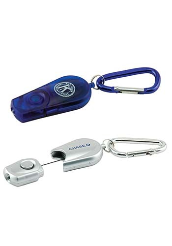 Promotional Retractable Carabiner Flashlight Keychains