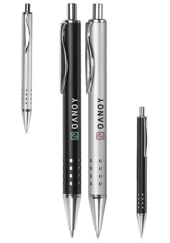 Customized Swerve Clip Metal Ballpoint Pens