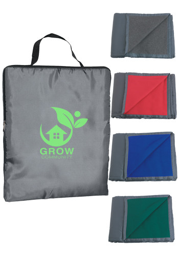 Bulk Reversible Fleeces/Nylon Blankets with Carry Case