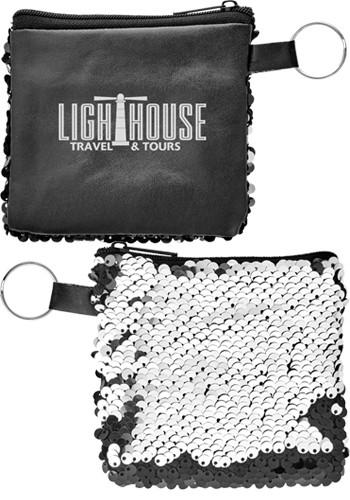 Reversible Sequins Pocket Pouches | SM2306