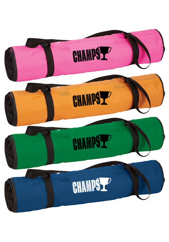 Personalized Roll-up Polyester Beach Blankets with Pillows