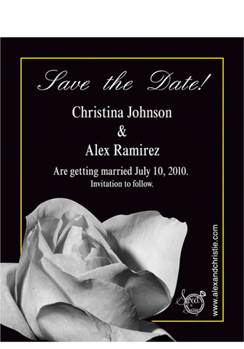 Rose Save the Date Magnets | MGS217I