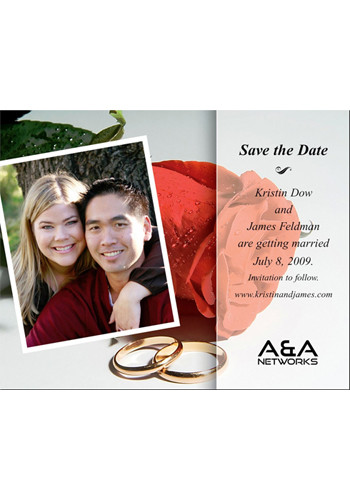Rose with Photo Save the Date Magnets | MGS2170AA