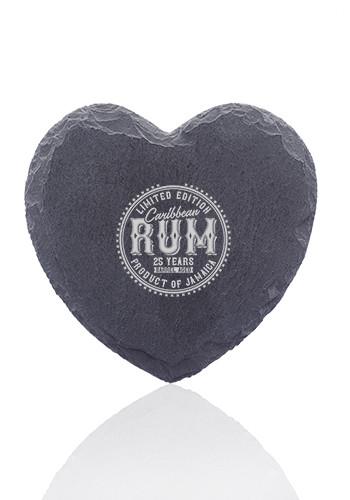 Rosetta Heart Shaped Slate Coasters | CC07