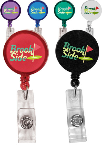 Customized Round Badge Holders with Alligator Clips